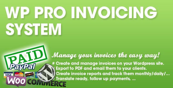 WP PRO Invoicing System Tuna Site - Woocommerce invoice system