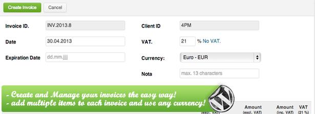 WP PRO Invoicing System – Tuna Site