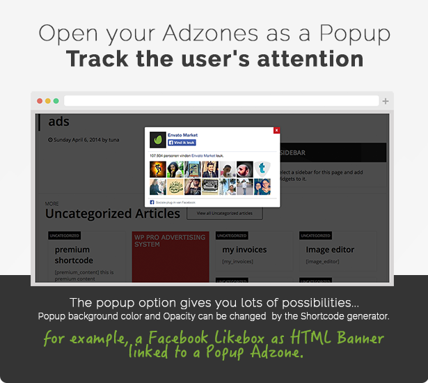 Open your Banners as a Popup and track the users attention