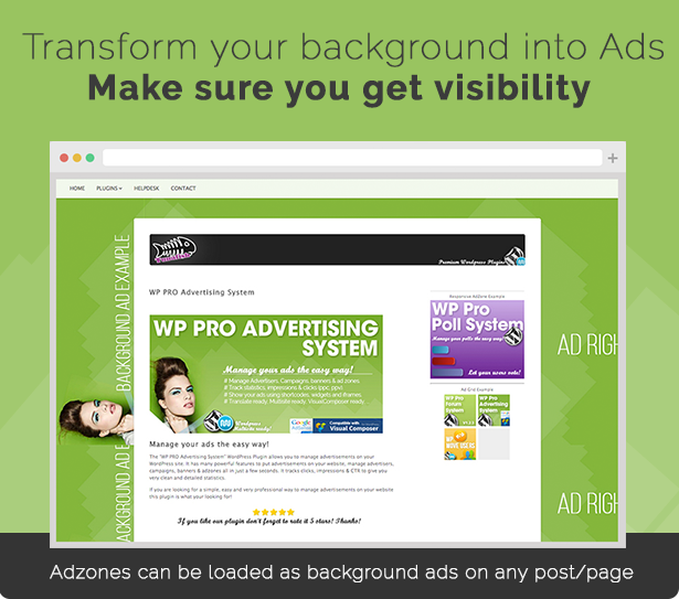 Load Adzones as Background Ads